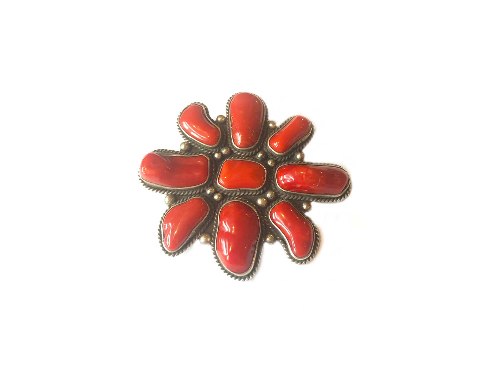 Large Coral Cluster Pendant Pin
