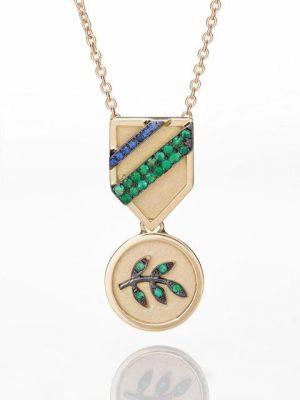 Olive Branch Medal Necklace