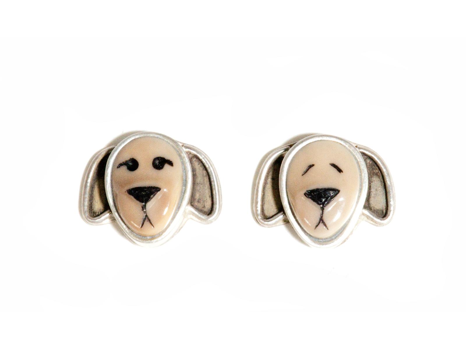 Brown Dog Earrings