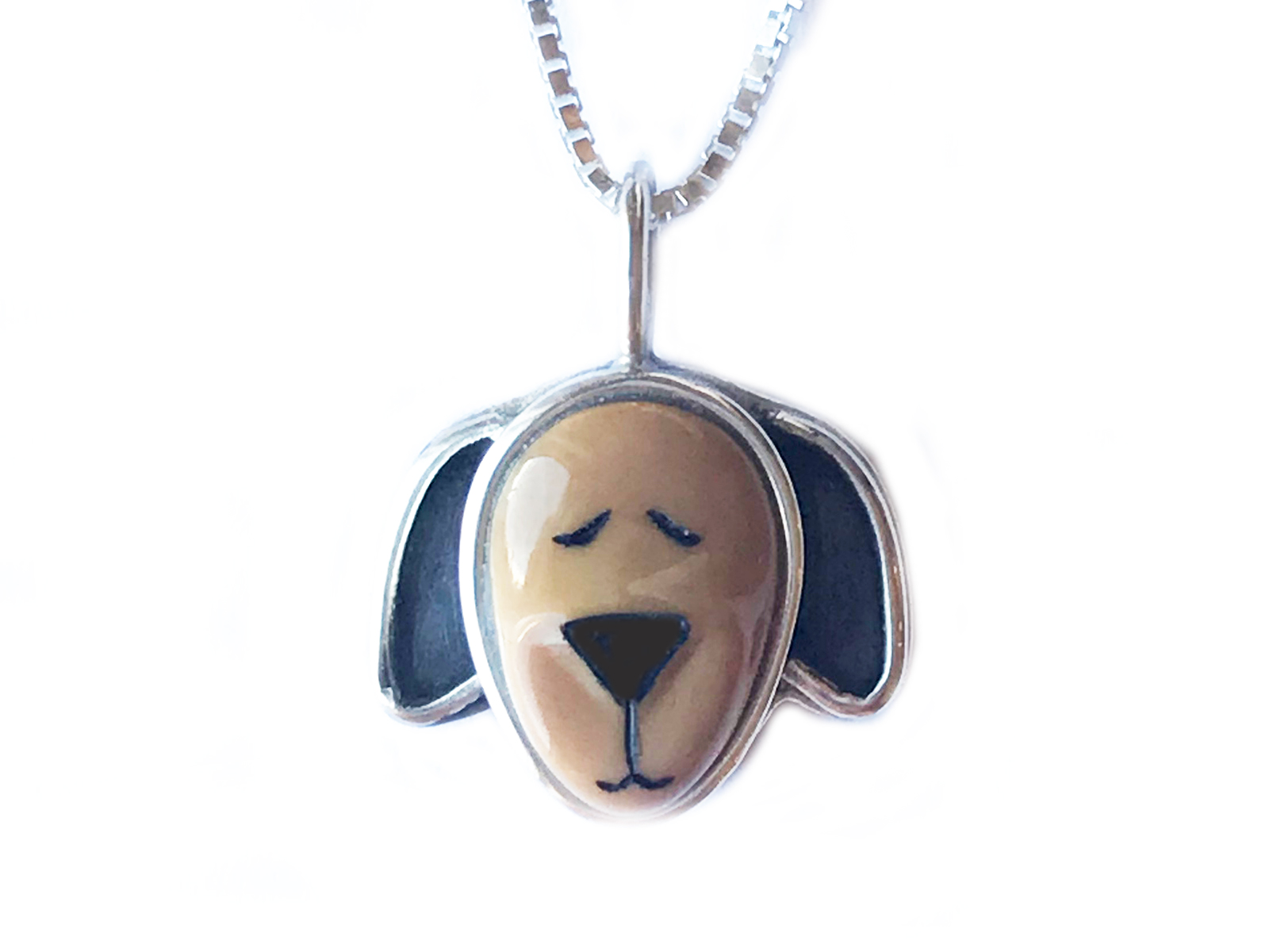 Brown Dog Face Necklace