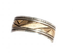 Brushed Gold and Silver Band