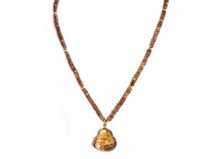 Ametrine Buddha Necklace