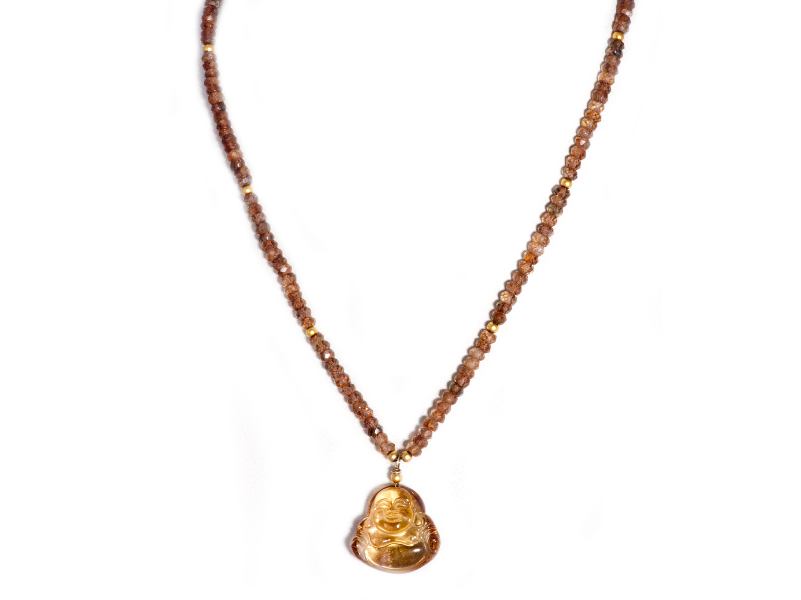 Ametrine Buddha Necklace From Sukhmani Of Albuquerque New