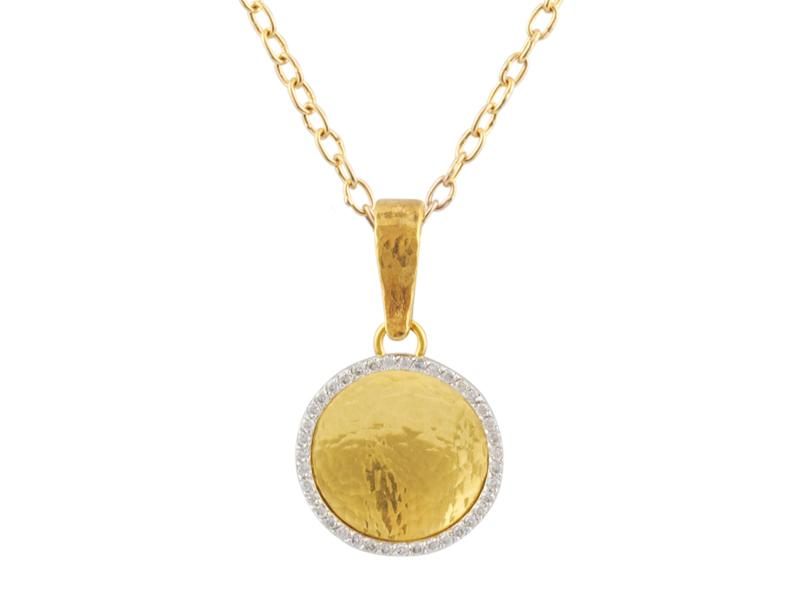 24 Karat Diamond Moon Glow Necklace