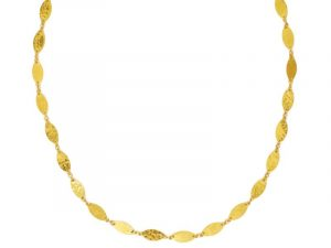 Leaf Willow Flake necklace in 24K gold