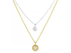 Double strand Delicate Pave Necklace