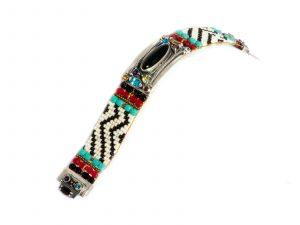 Onyx Stone on Beaded Bracelet