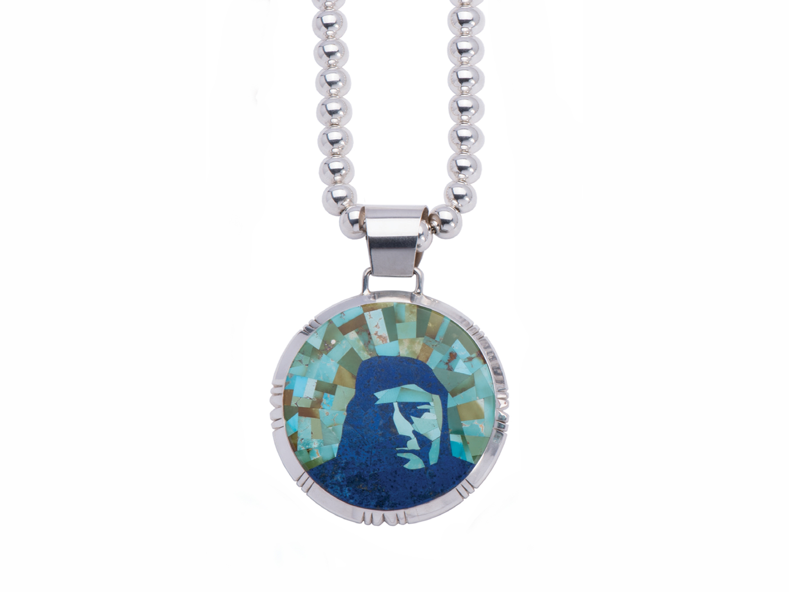 Chief Joseph Inlay Pendant