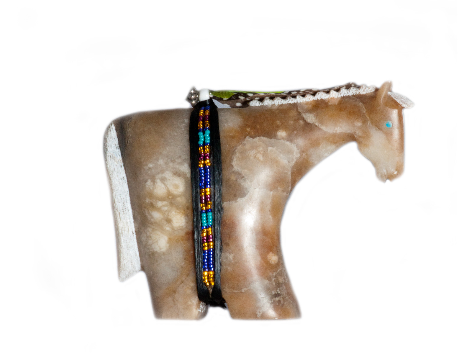 Navajo buffalo bison flat palm fetish and similar items