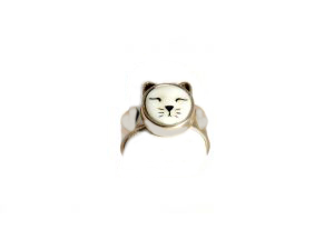 Large Cat Heart Ring
