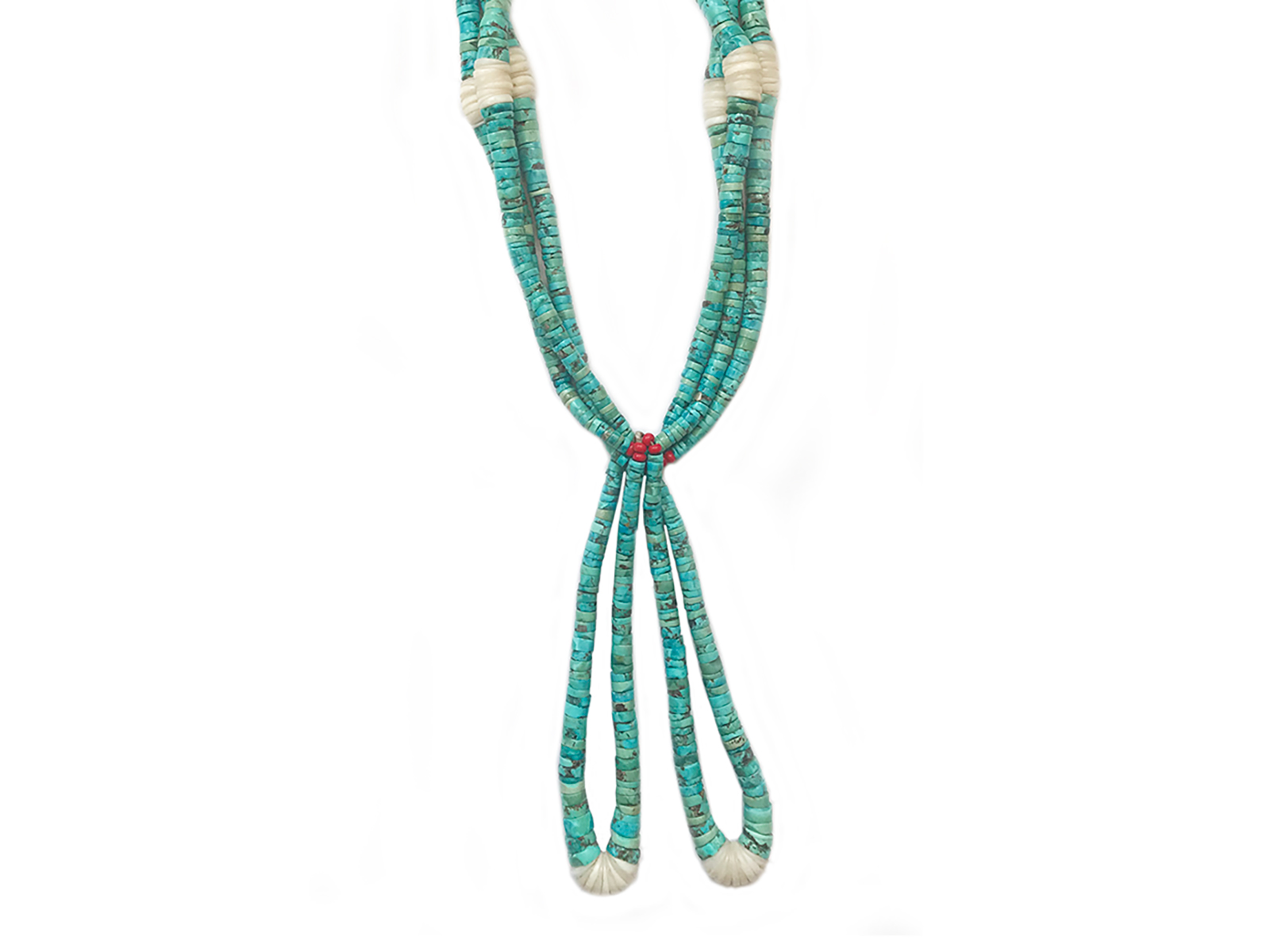 1950's Natural Turquoise Ceremonial Necklace