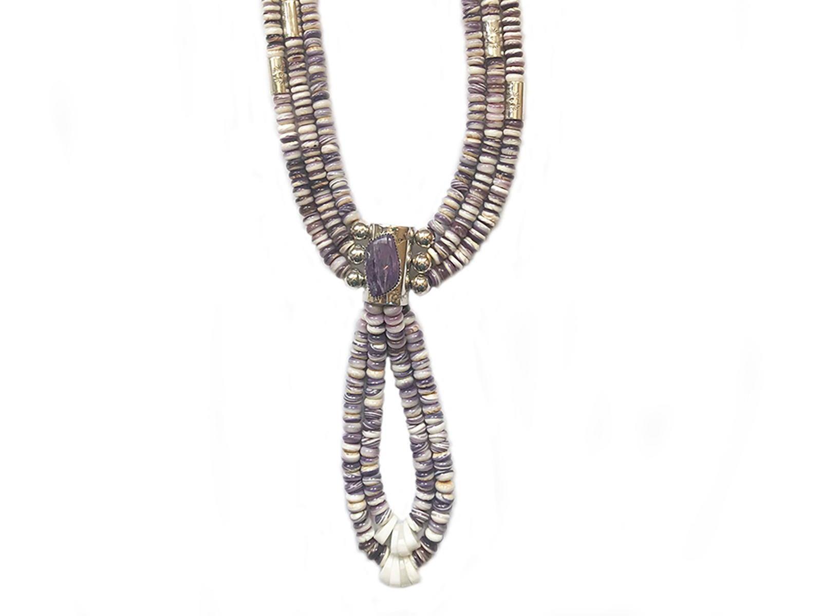 This stunning traditional Charolite Necklace