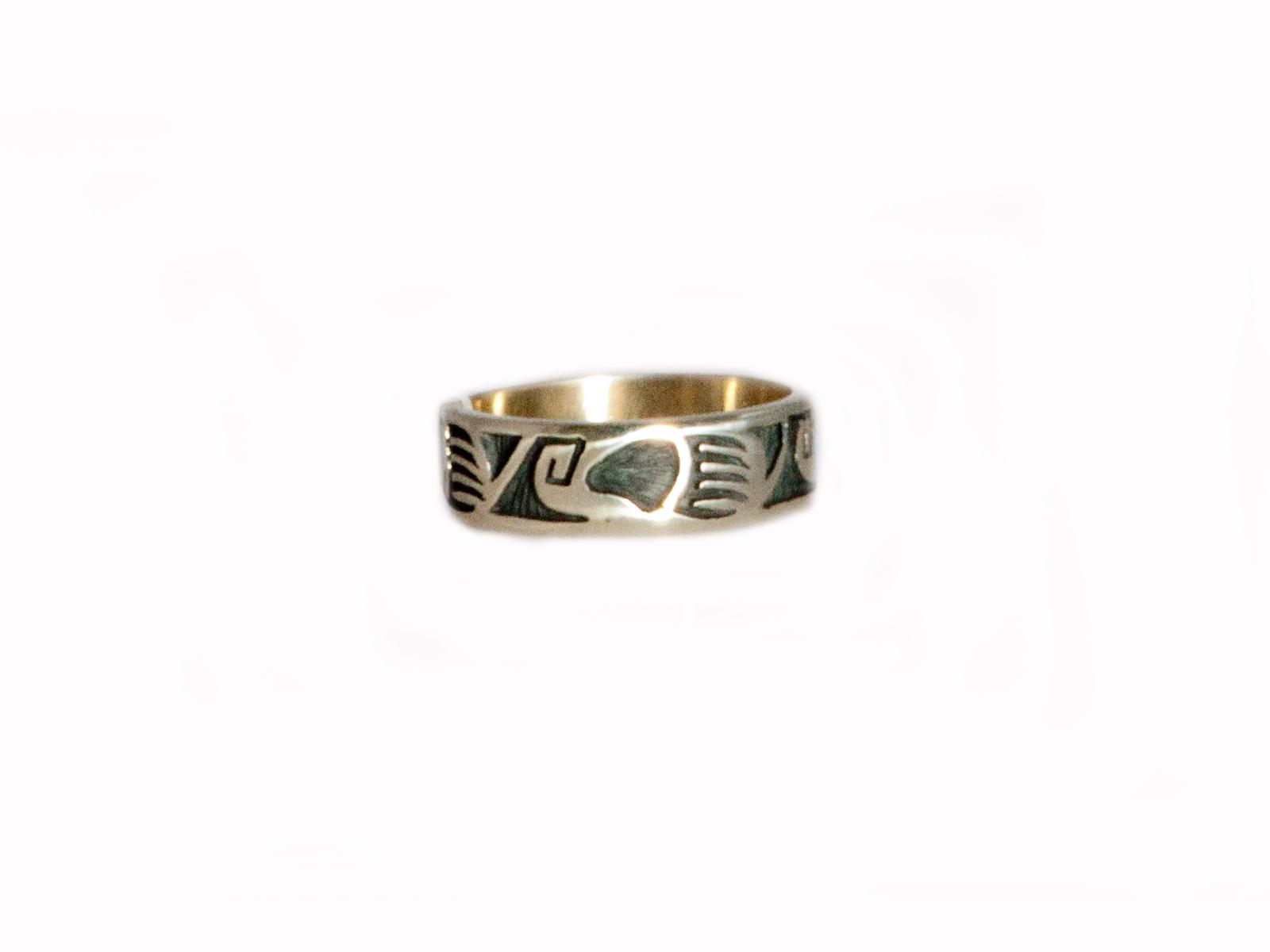 Bear Claw Silver Ring