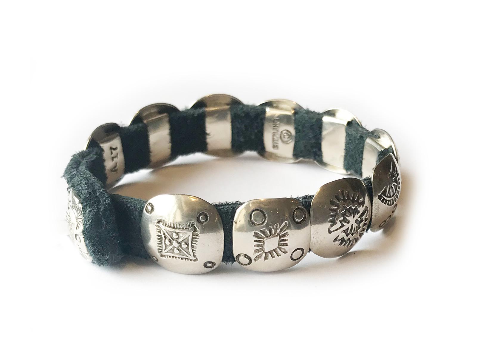 Concho Leather Bracelet