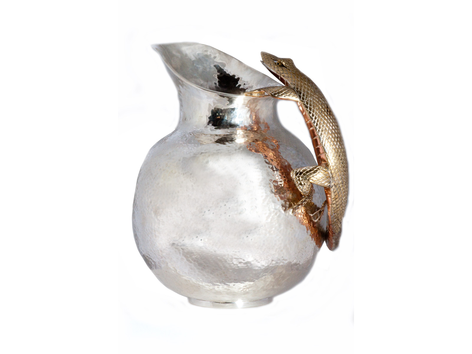 Copper Iguana Pitcher