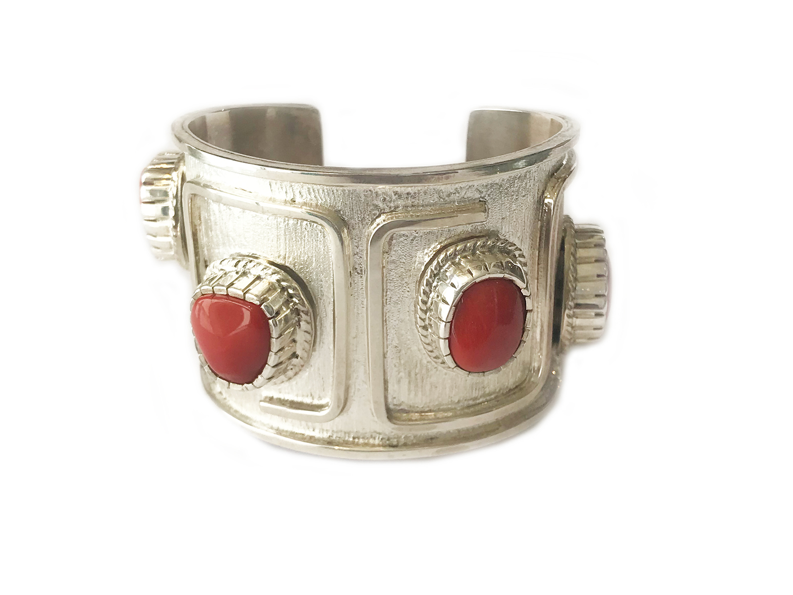 4 Stone Coral Contemporary Cuff