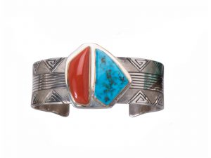 Coral Turquoise Cuff