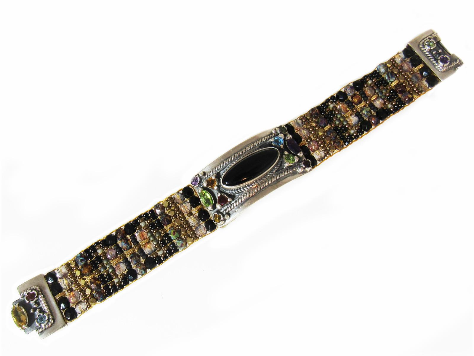 Cowgirl Black Beaded Bracelet