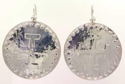 Handmade Silver Cross Paths Earrings