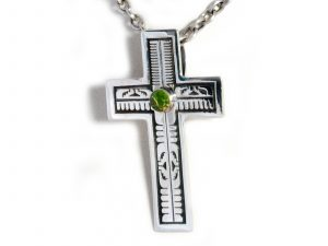 Handmade Large Silver Cross Pendant