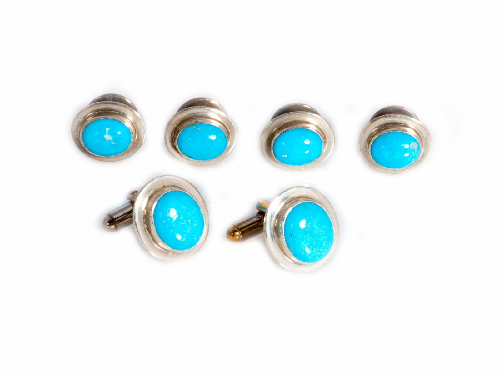Turquoise Cuff Links Set