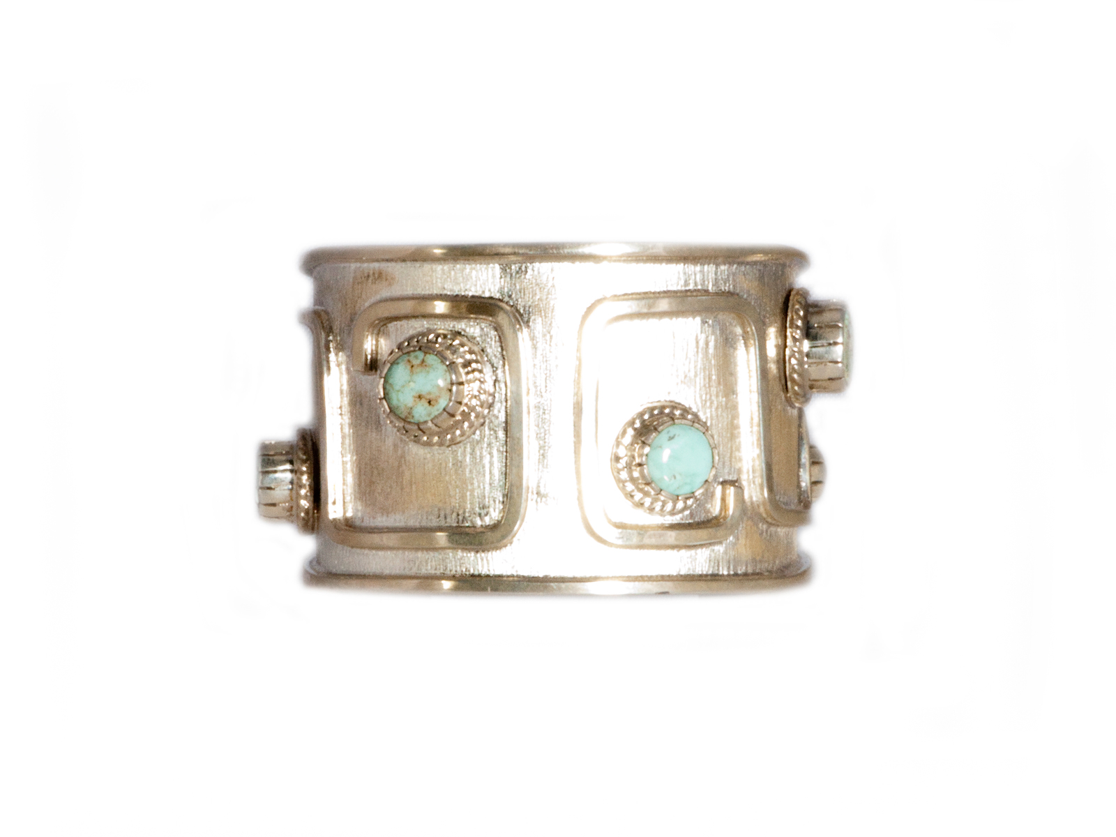 Silver Dry Creek Turquoise Cuff