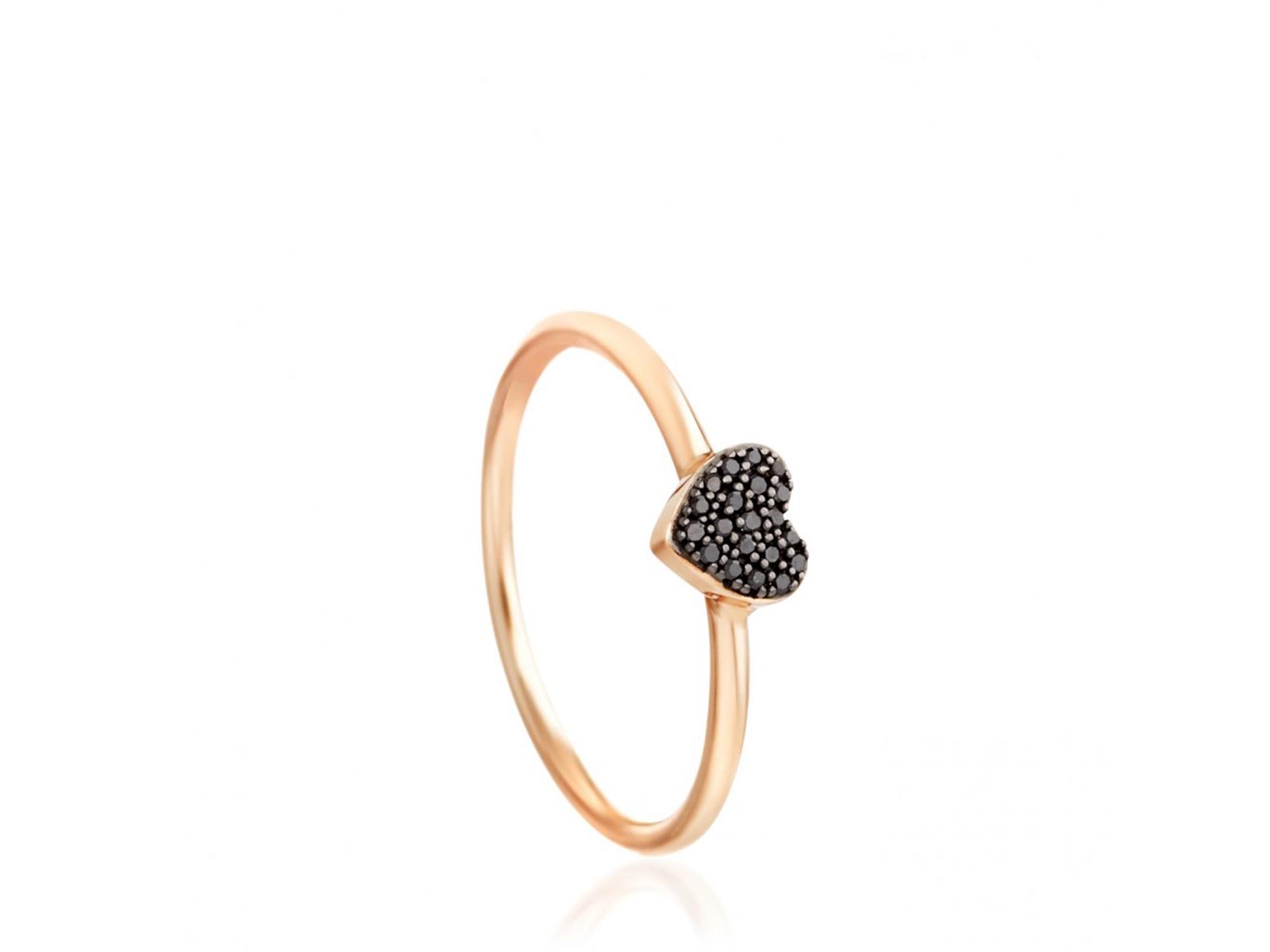 14k gold black diamond heart ring by astley clarke. Black Bedroom Furniture Sets. Home Design Ideas