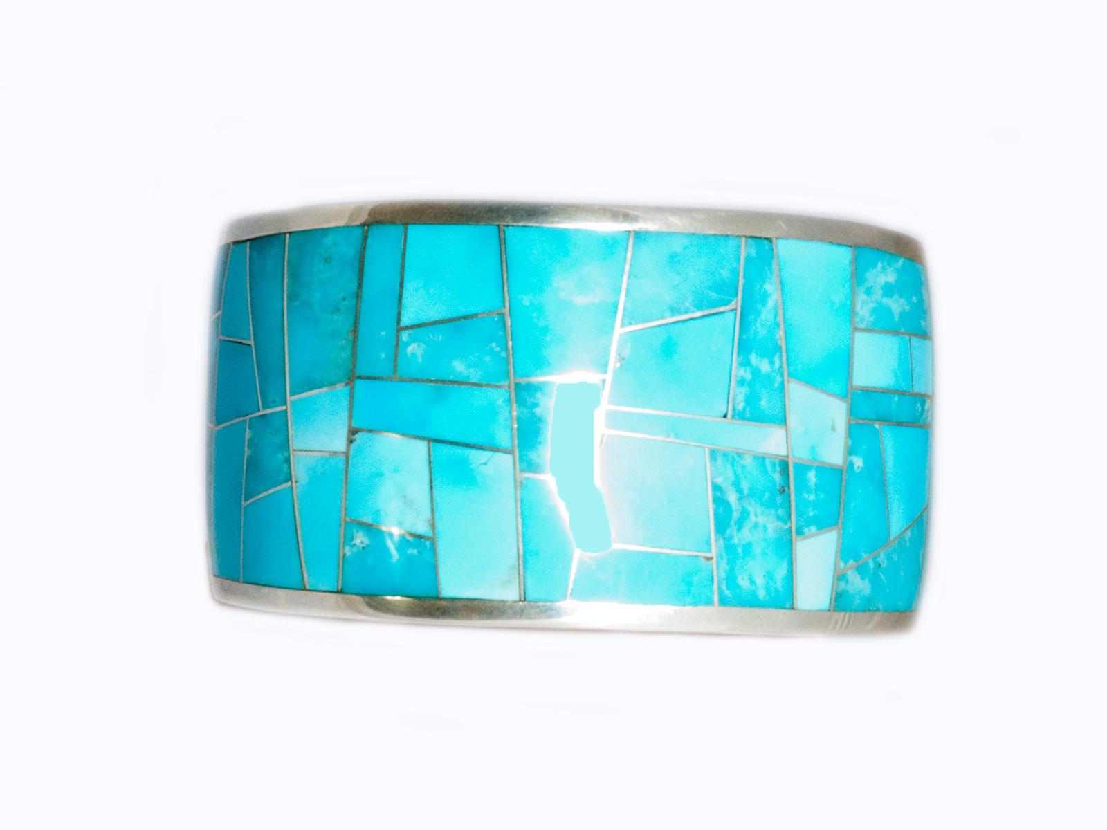 Kingman Turquoise Inlay Cuff