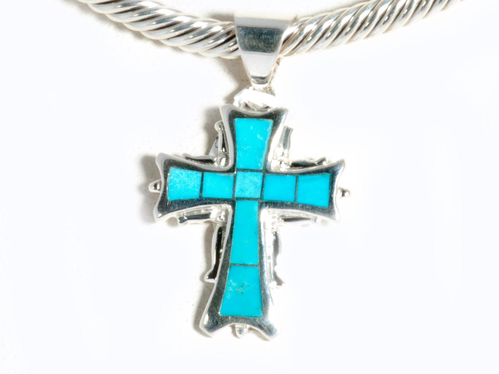 Kingman Turqoise Inlay Cross