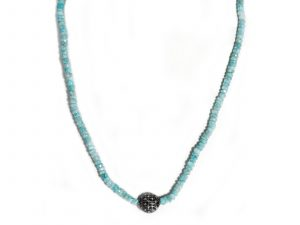 Diamond Amazonite Necklace