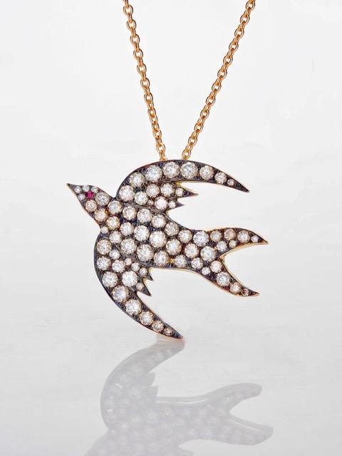 Diamond Lovebird Necklace