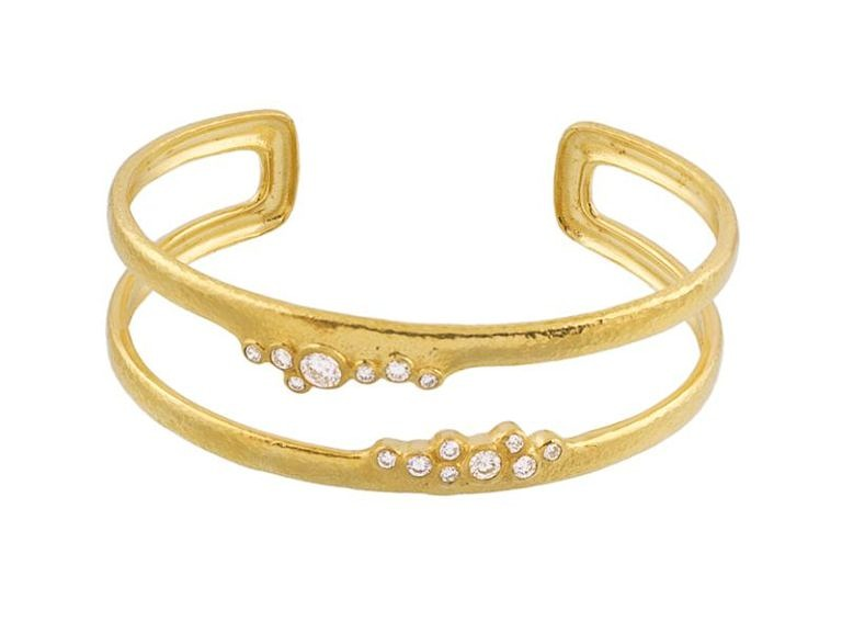 Pointelle Double Diamond cuff