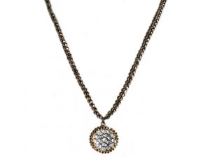 Diamond Hematite Necklace