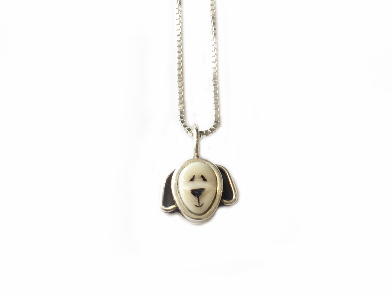 Puppy Pendant on Sterling Silver Chain