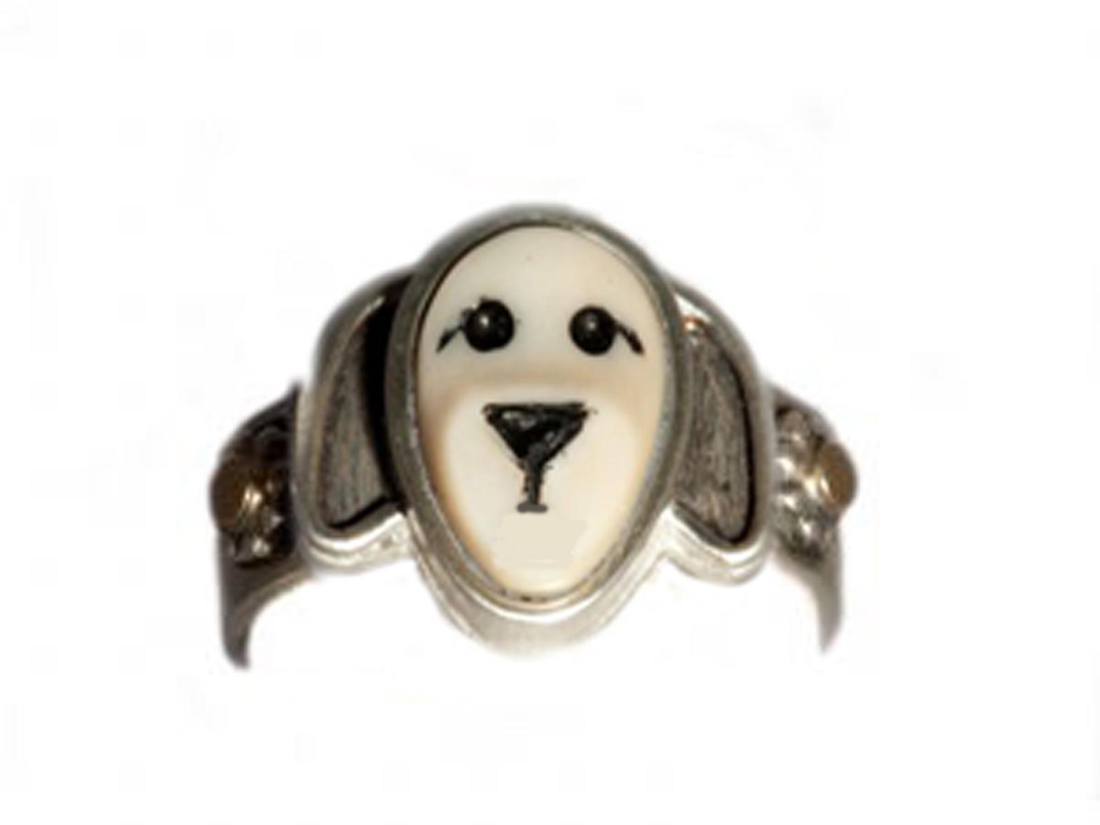 Puppy Flower Ring