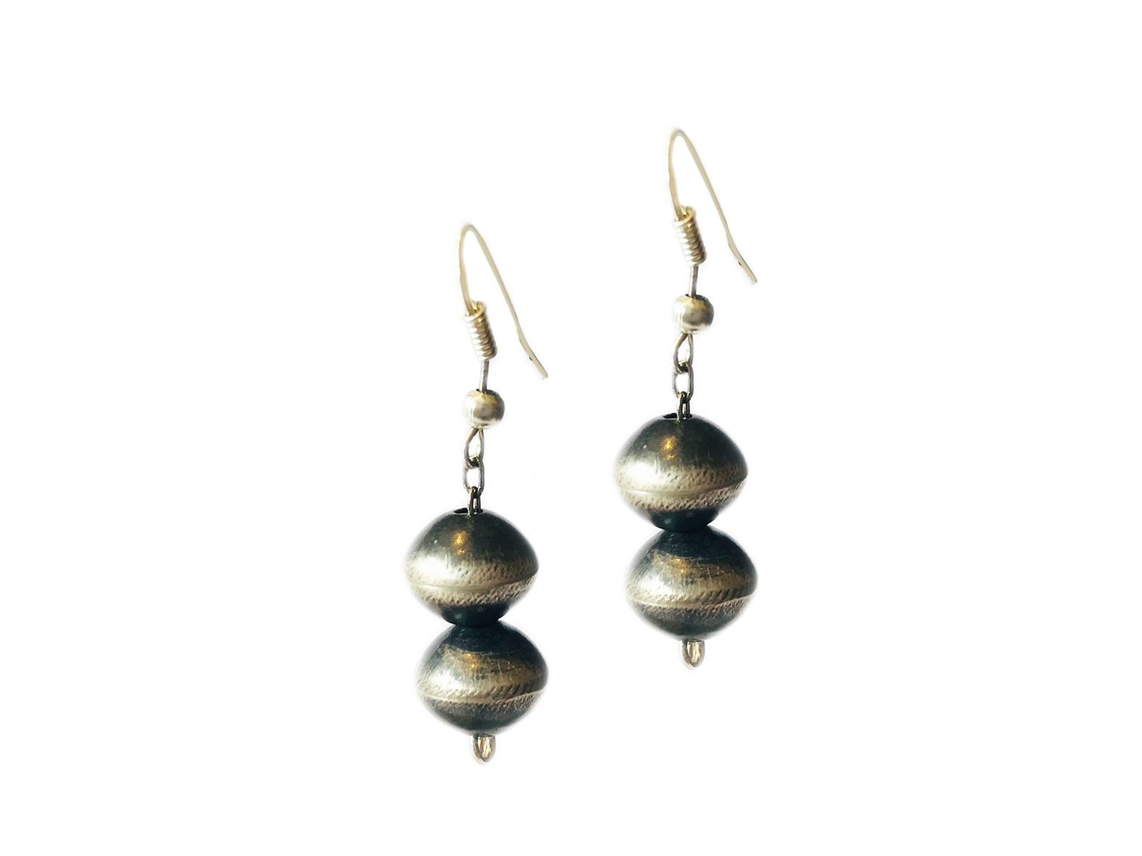 Double Navajo Pearl Earrings