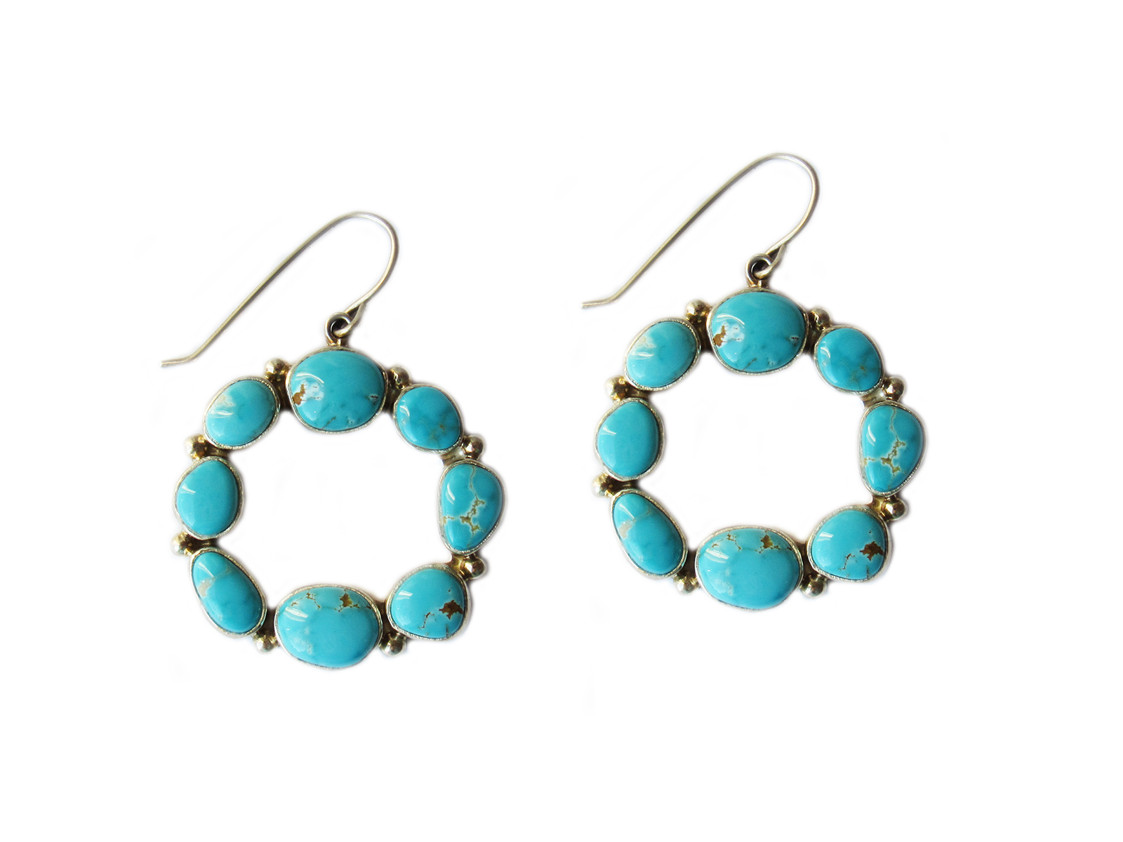 Dragonfly Turquoise Hoop Earrings