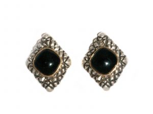 Dian Malouf Onyx Earrings