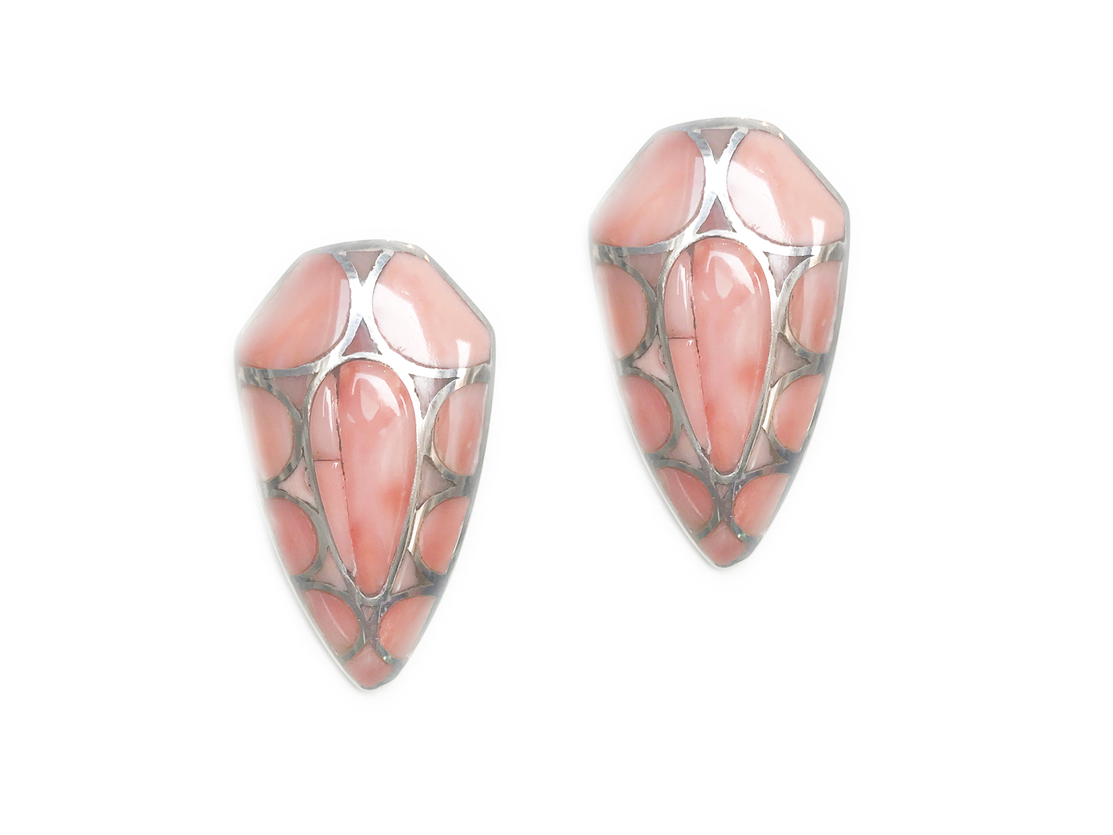 Angel Skin Coral Post Earring