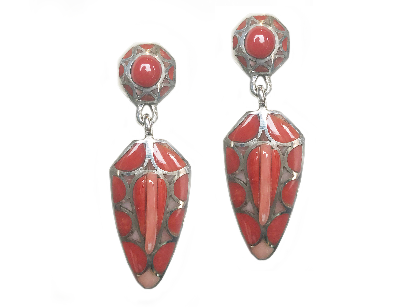 Natural Coral Dangle Earring