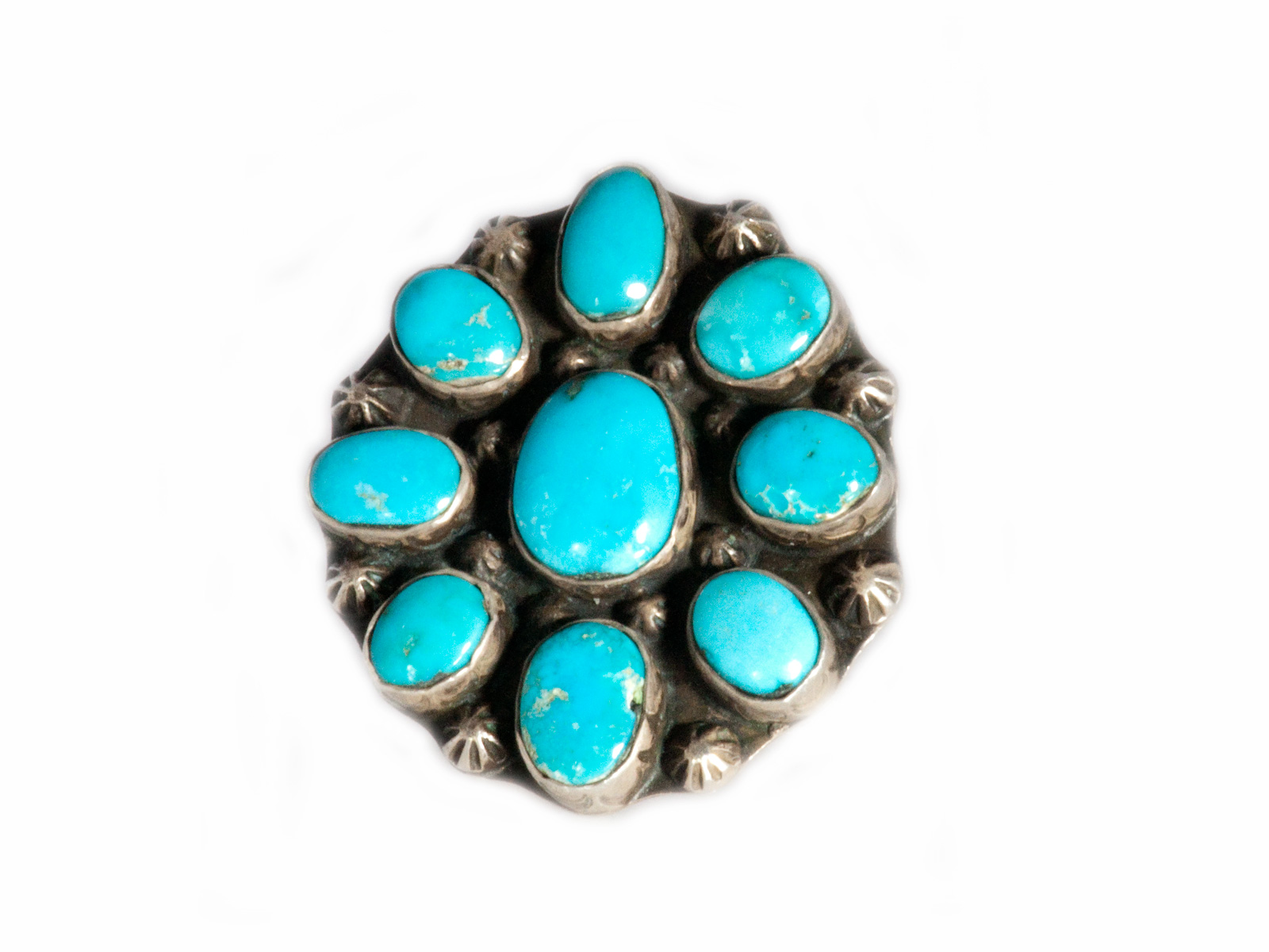 Natural Candelaria Turquoise Cluster Ring