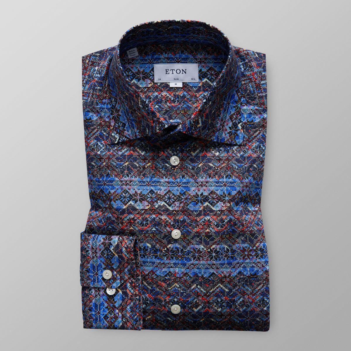 Fair Isle Print Shirt