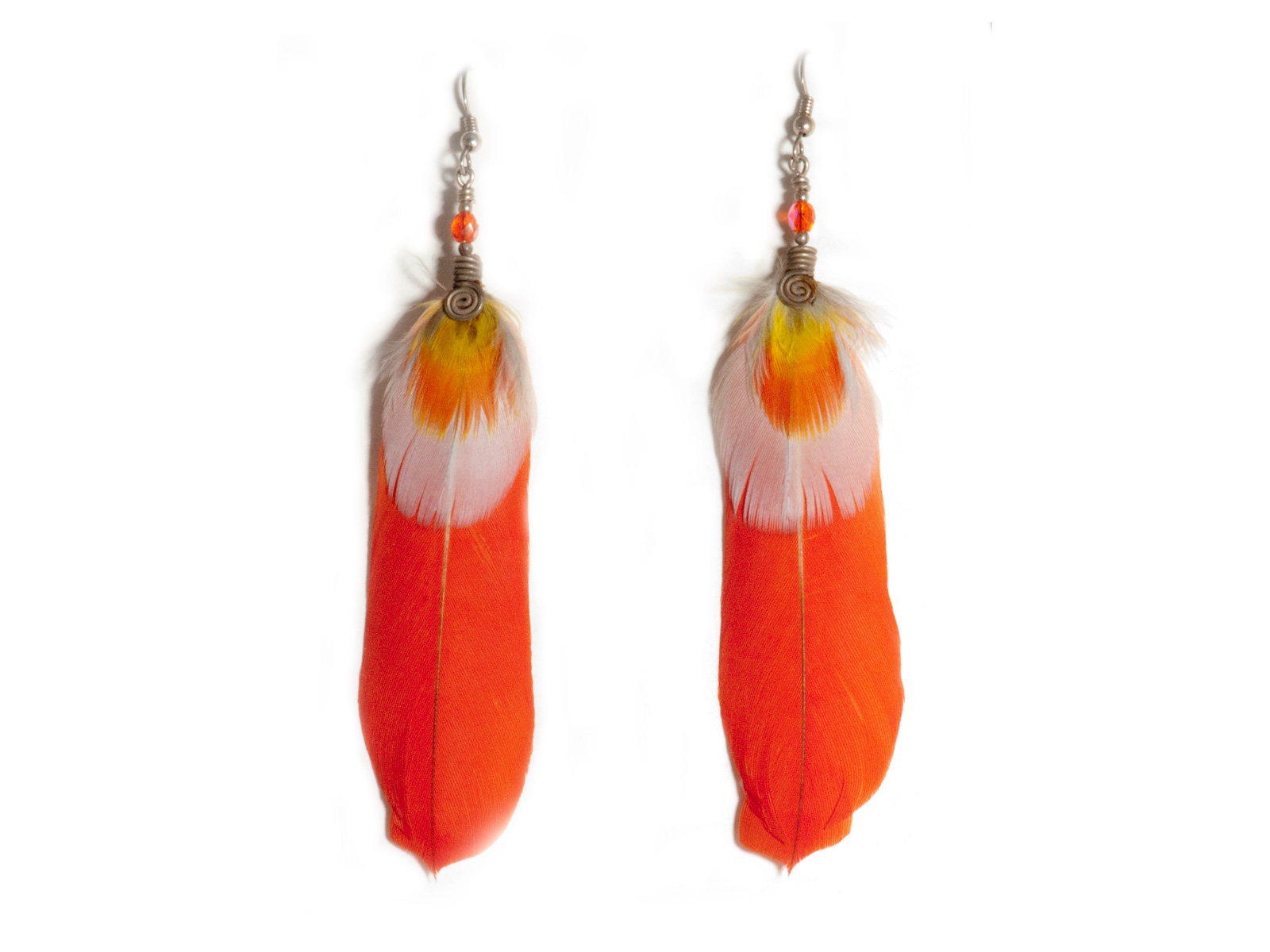 earrings small quadrum gallery products feathered feather