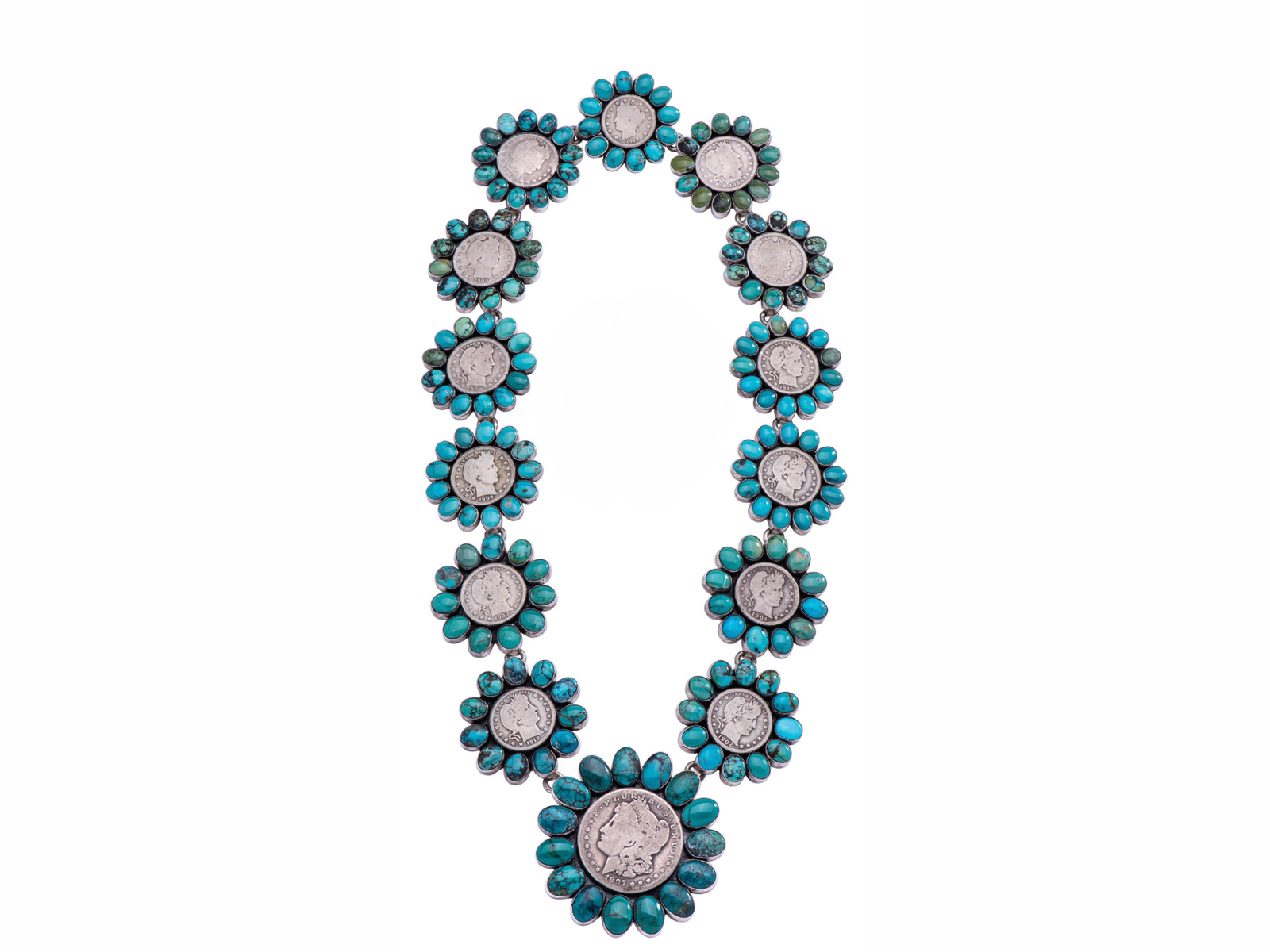 Liberty Coin Turquoise Necklace