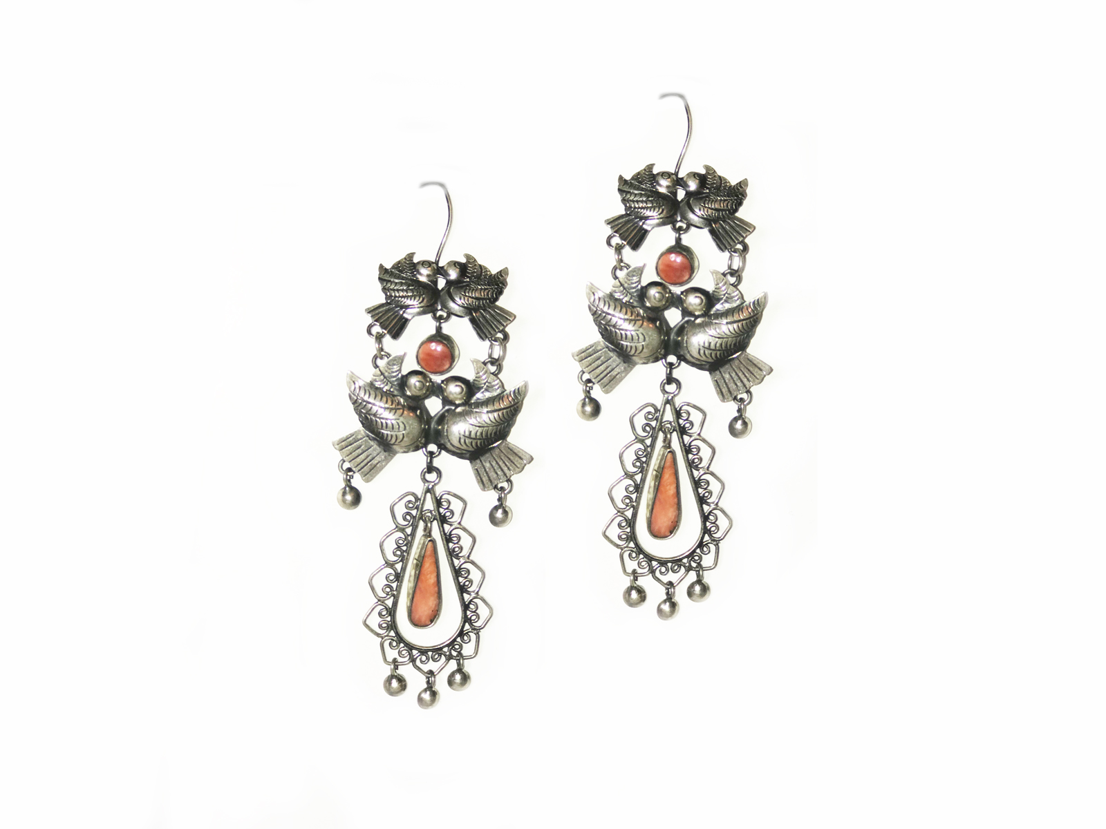 Spiny Oyster Filigree Earrings