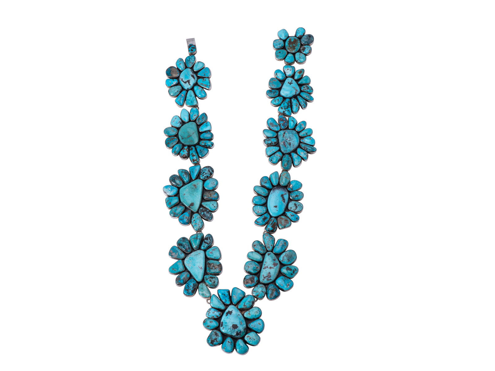 Large Turquoise Cluster Necklace