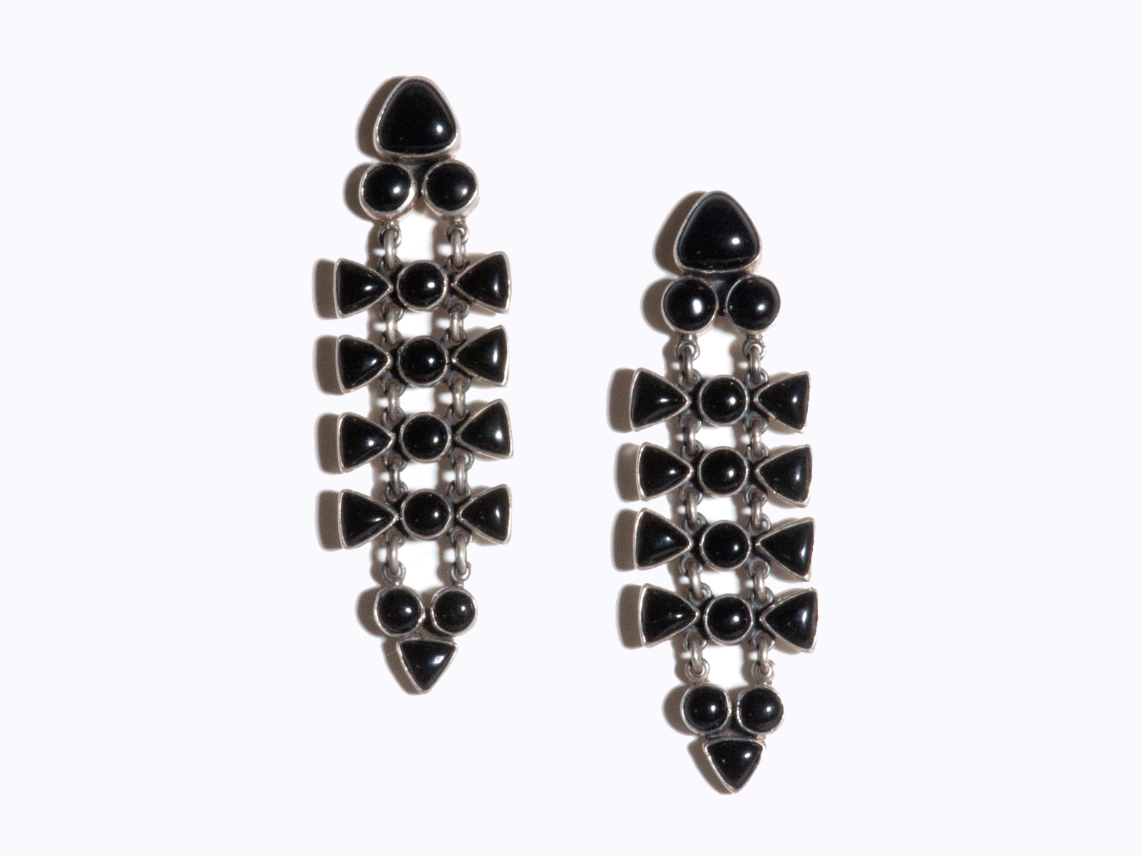 onyx earrings products tomoko jewellery image black