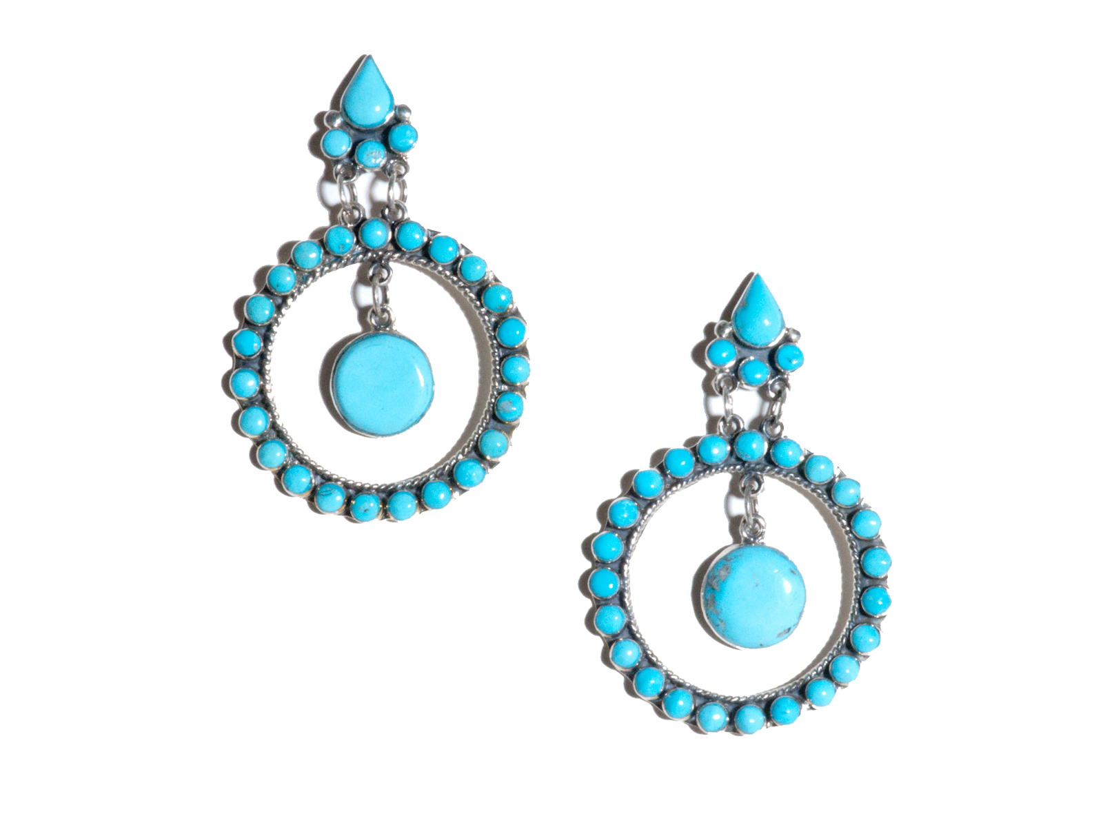 Multi Turquoise Dangle Earrings