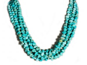 5 Strand Number 8 Turquoise Necklace