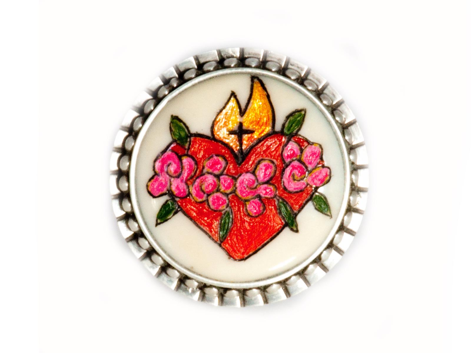 Flaming Heart Ring